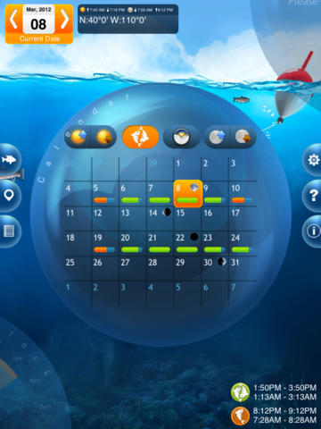 Fishing deluxe lifeware solutions software that makes for Solunar tables for fishing