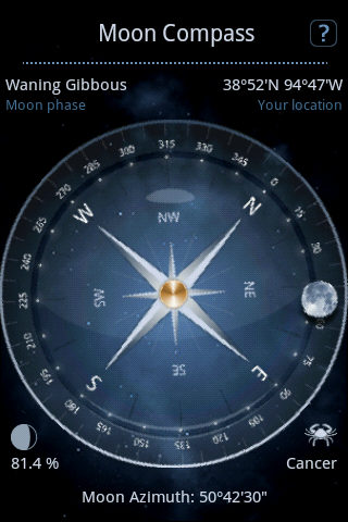 Moon Compass and moon azimuth