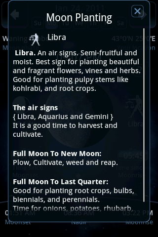 Moon Gardening for each moon day