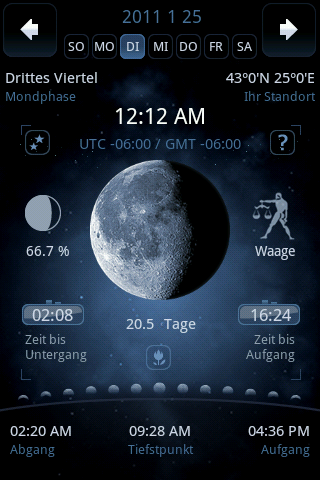 Moon Phase Main in German