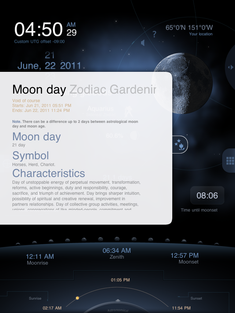 Moon Days Descriptions