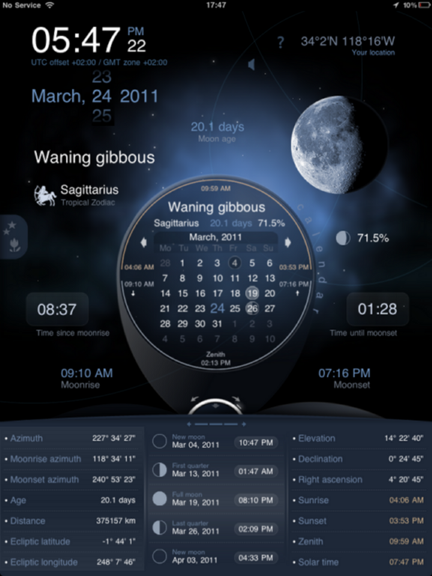 Deluxe Moon HD provides comprehensive moon information for iOS Dms_ipad_cal