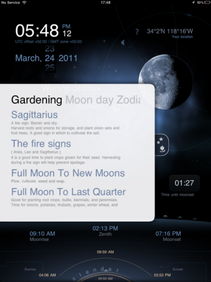 Deluxe Moon HD provides comprehensive moon information for iOS Dms_ipad_garden