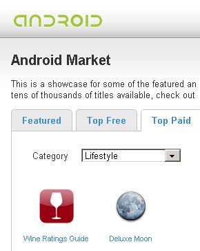 Popularity at android.com