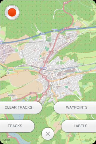 Tracks, labels, waypoints